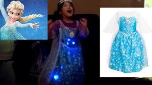 disney frozen elsa dress lights up spinning dance frozen