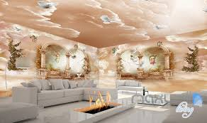 wallpaper for entire wall 3d classic angel arch polar heaven entire living room wallpaper wall