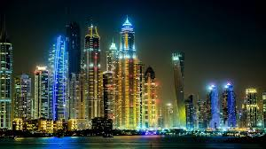 Arab Hd by Skyscrapers Dubai Skyscrapers Lights United Arab Emirates Rivers
