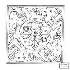 coloring pages arts culture mandala with butterflies and