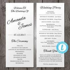 Wedding Program Fans Cheap Wedding Program Template Printable Wedding Program Pdf Instant