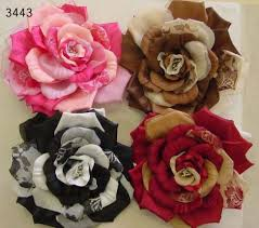 color roses dual color with prints 6 1 2 inches that way hat new