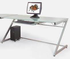 furniture fascinating minimalist computer desk with glass window