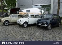 compact cars compact cars fiat 500 r and 500 f or berlina stock photo royalty
