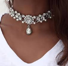 women choker necklace images Crystal beaded choker necklaces for women bogo hautify jpg