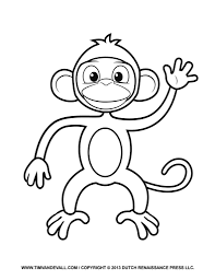 printable monkey coloring pages printable monkey clipart coloring pages cartoon crafts for kids