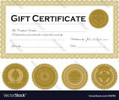 certificate frame vector gold certificate frame royalty free vector image