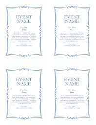 event flyer 4 up office templates