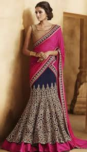 How To Drape A Gujarati Style Saree Most Popular Ways To Drape A Lehenga Saree Brijraj Fashion