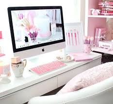 Dreaming of this pink white office Such great inspiration for a