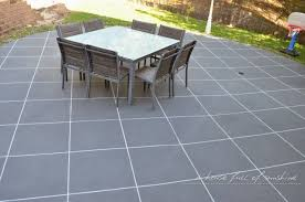 Backyard Pavers Backyard Makeover How To Paint Concrete To Look Like Oversize