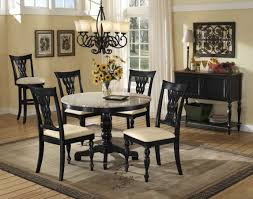 dining room decoration ideas table lovely round granite dining set with cool chandelier stone
