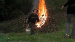 burn party fire starter burn your brush pile safely youtube