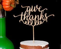 salegive thanks thanksgiving pie or cake topper