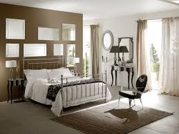 small bedroom colors and designs with masculine chrome bed design