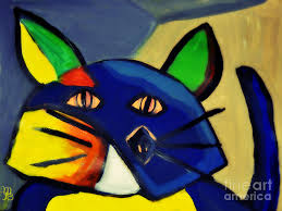 cubism painting cubist inspired cat by mindy bench