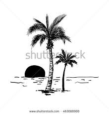 palm trees vector editable stock vector 253870579