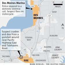 Seattle Police Map Man Shot By Des Moines Officer Died From Self Inflicted Gunshot