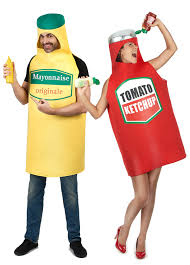 mayonnaise and ketchup couple costume for adults couples costumes