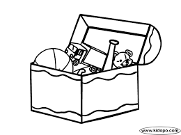 Toy Box Coloring Page Box Coloring Pages