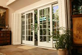 Wooden Patio Door Blinds by White Faux Wood Plantation Sliding Door Shutters With White Wooden