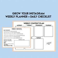 grow your instagram instagram planner social media planner