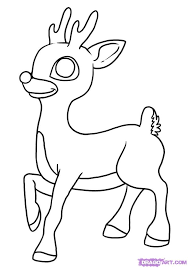 rudolph red nosed reindeer coloring pages kids aim