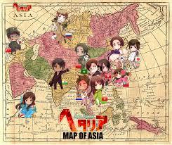 Map Of Asia Countries Asian Countries Axis Powers Hetalia Image 1011138 Zerochan