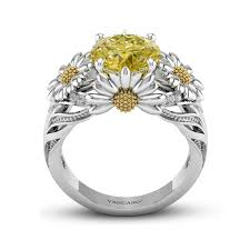 vancaro engagement rings dazzling engagement ring with yellow gemstone for women