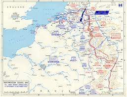 Western Europe Map by Map Map Noting The Front Lines Of The Western Front Of European