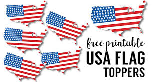 4th Of July Party Decorations Usa Flag Printables July 4th Crafts Paper Trail Design