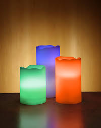 color change led candle set with remote thinkgeek