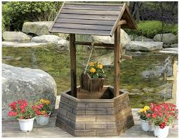 Wishing Well Garden Decor Wooden Wishing Well Wooden Wishing Well Wishing Well Planter