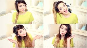 how to my quick and easy hairstyles zoella youtube