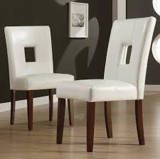 White Upholstered Dining Room Chairs by Amazon Com Tribecca Home Alsace Modern White Faux Leather