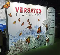 versatex signboard 10x10 booth u2014 brandy baker graphic designer