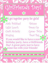 Invitation Card For Get Together 25 Best Happy Girlfriends Day Wish Pictures