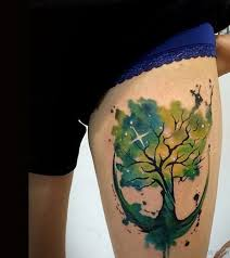35 awesome tree tattoos on thigh