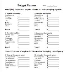 budget planner templates print paper templates
