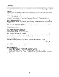 History Of Interior Design Books B Des Curriculum Regulations And Syllabus