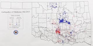 Map Oklahoma 2255 Drilling Is Making Oklahoma As Quake Prone As California