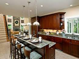 tile countertops kitchen island with breakfast bar lighting