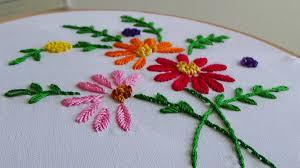 Fish Bone Stitch Embroidery Tutorials Embroidery Flowers With Fishbone Stitch