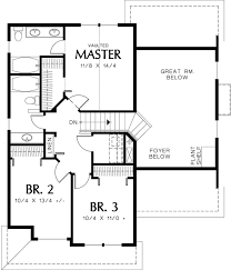 Dual Master Bedroom Floor Plans by Traditional Style House Plan 3 Beds 2 50 Baths 1500 Sq Ft Plan