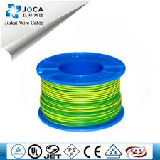 wholesale 2 5mm single wire green yellow color for earth or ground