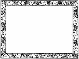 Free Halloween Border Clip Art by Fancy Borders Clip Art Leafy Border From Page 501 Image