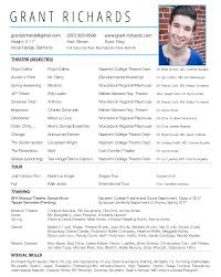 Sample Audition Resume by Kids Sample Audition Resume And Tips On Putting One