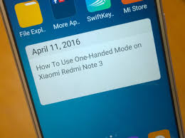 tutorial hp xiaomi redmi note how to enable one handed mode on redmi note 3 youtube