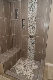 Bathroom Shower Ideas On A Budget Colors Spruce Up Your Shower By Adding Pebble Tile Accents Click The Pin