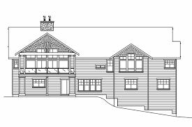 craftsman house plans pacifica 30 683 associated designs bungalow house plan pacifica 30 683 rear elevation
